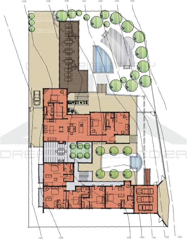 Guest house plans for Guest house layout plan