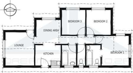 Amazing bedrooms page economy house plansModern style house plan home floor plans