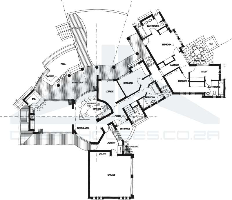 thatch house plans