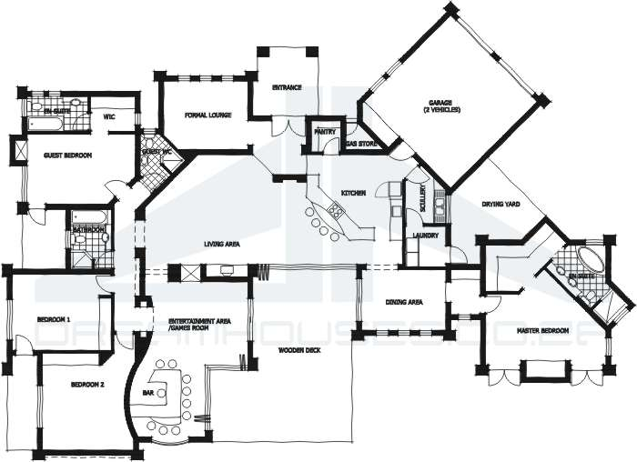 House plans and design modern house plans 4 bedroom for Modern house plans south africa pdf