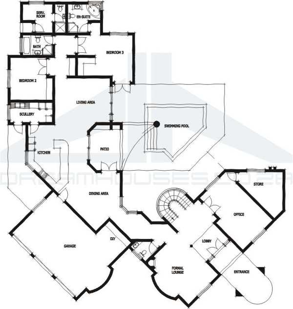 typical english house plan