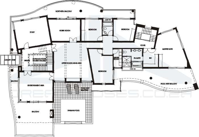 Contemporary house plans for Contemporary house blueprints