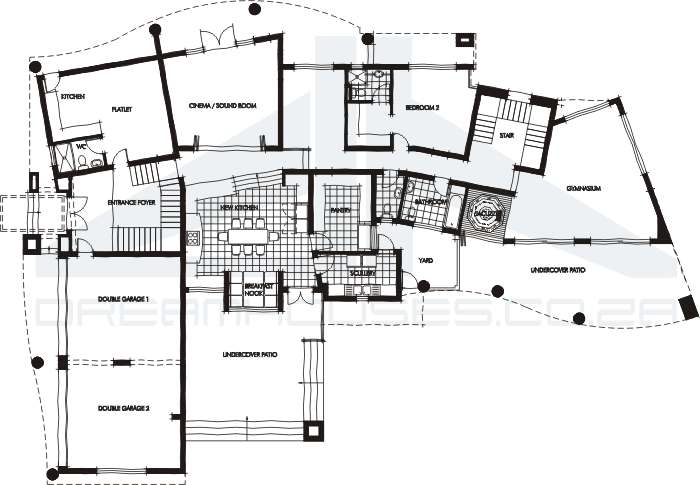 Contemporary house plans Modern house floor plans