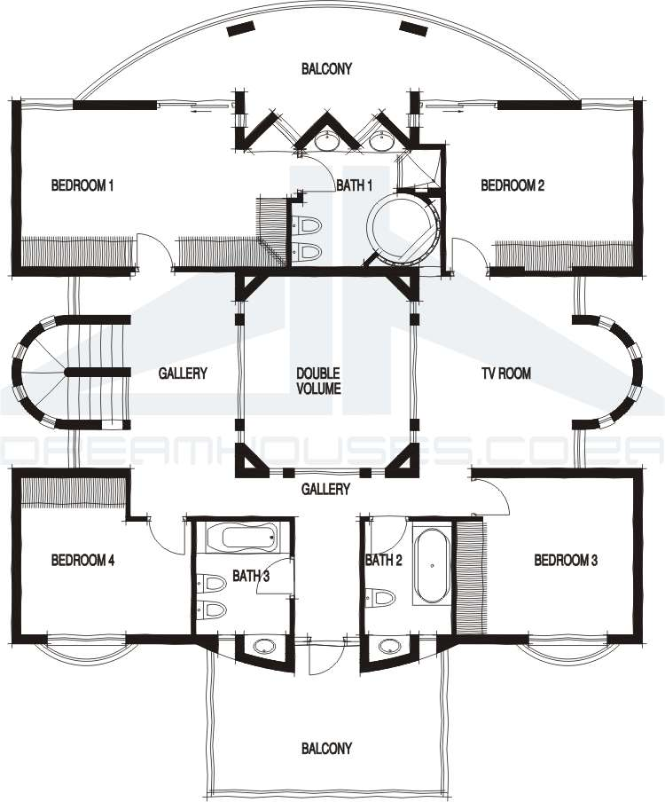 Six Bedroom Queen Anne (HWBDO68469) | Queen Anne House Plan from